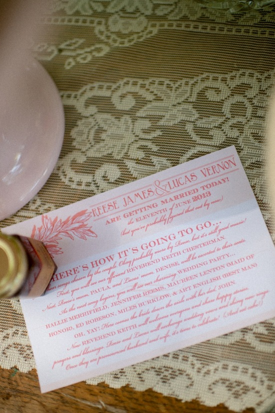 Pink caligraphy invitations