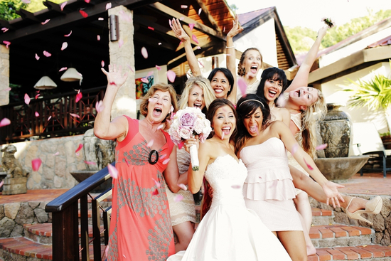 Fun destination wedding party