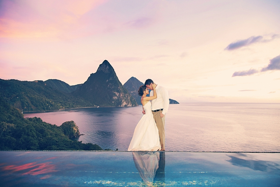 Sunset kiss in St Lucia
