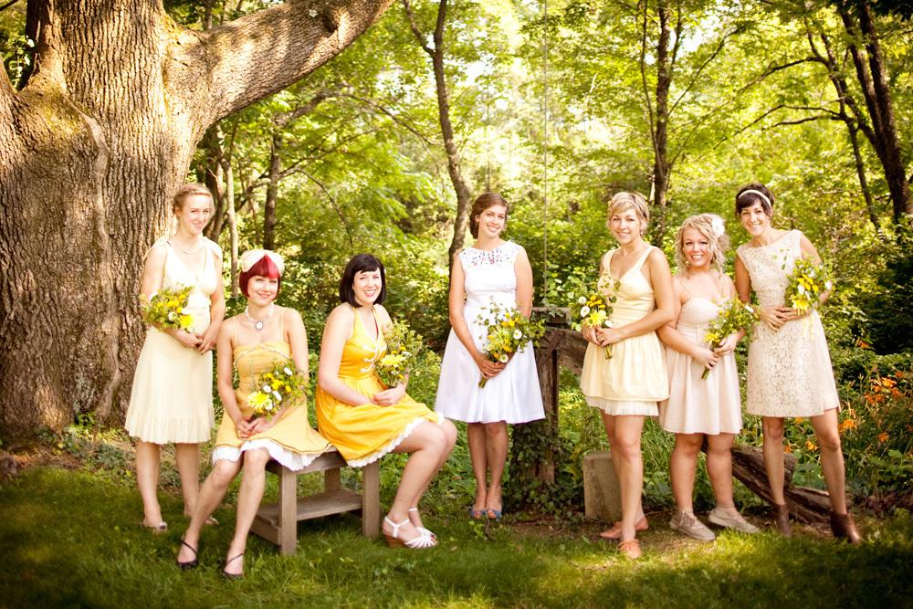 Mismatched-bridesmaids-dresses-outdoor-wedding-lovemedo.full
