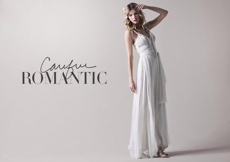 Romantic Beach Wedding Dress With Halter Neckline And Empire Waist
