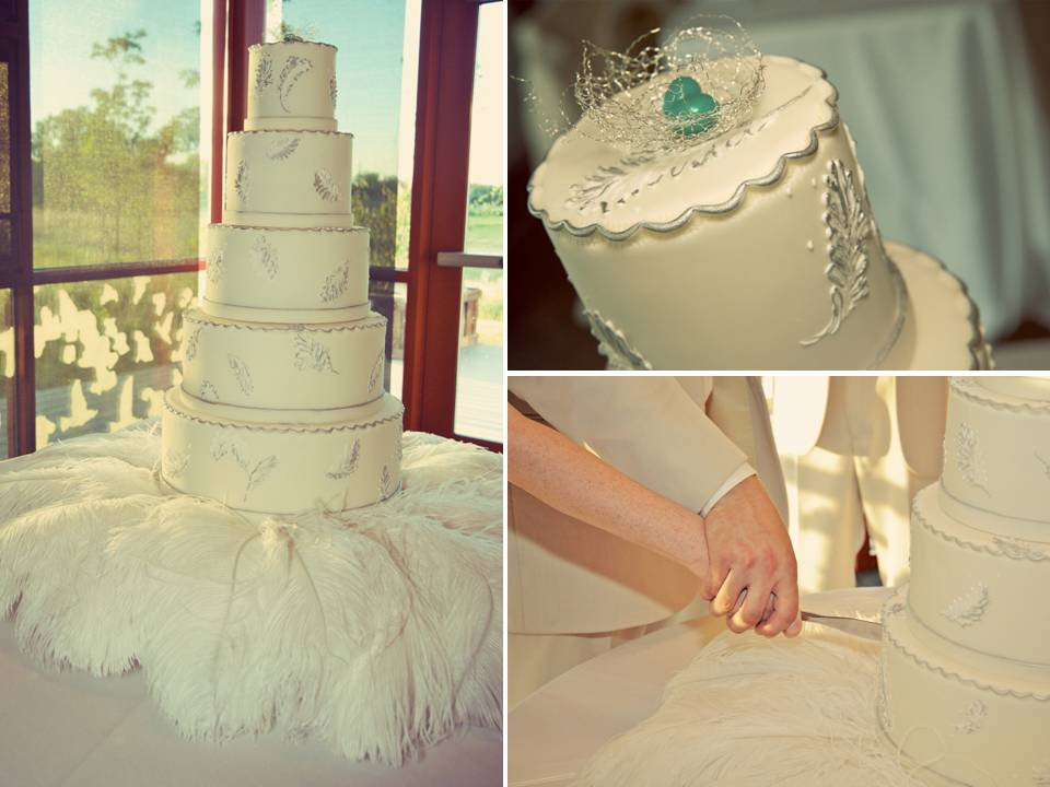 Wedding-cakes-romantic-classic-ivory-feathers-bride-groom.full