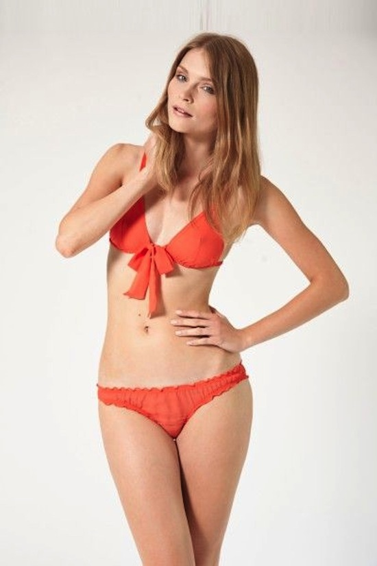 Orange swimsuit for the honeymoon