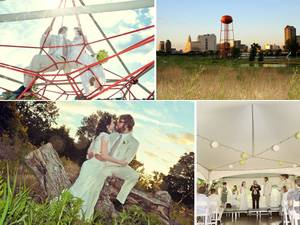 photo of Outdoor Summer Wedding with Retro Details: Faith and Bobby