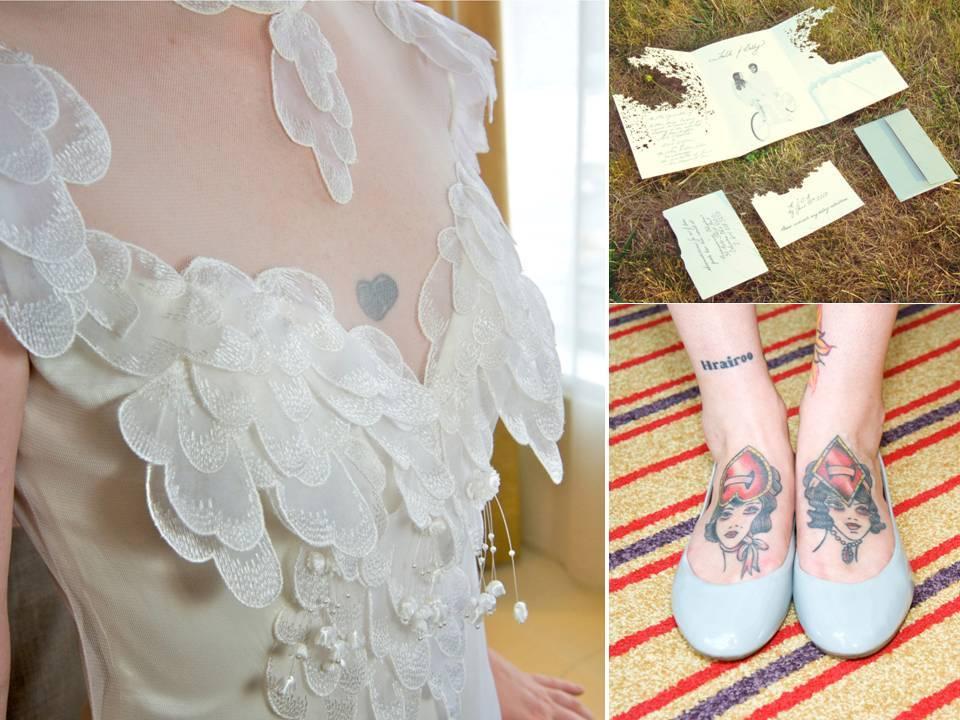 romantic wedding dress, ballet flat bridal shoes