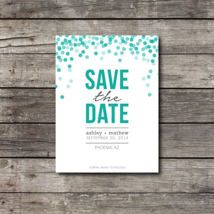 Polka dot save the date