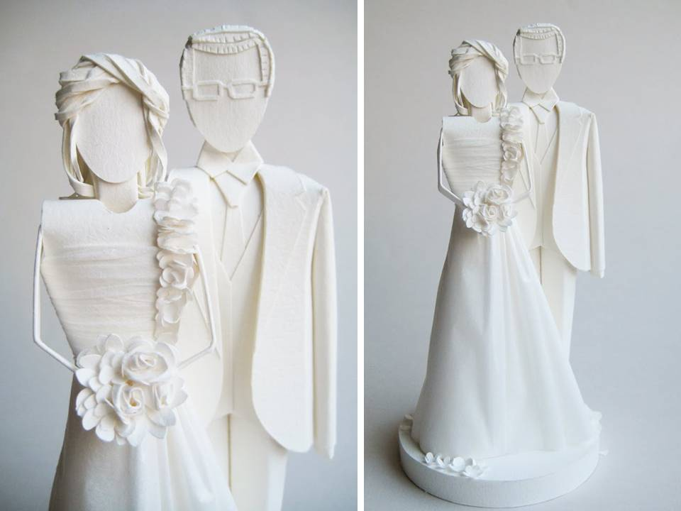 Handmade-wedding-cake-toppers-bride-and-groom-classic-wedding-style.full