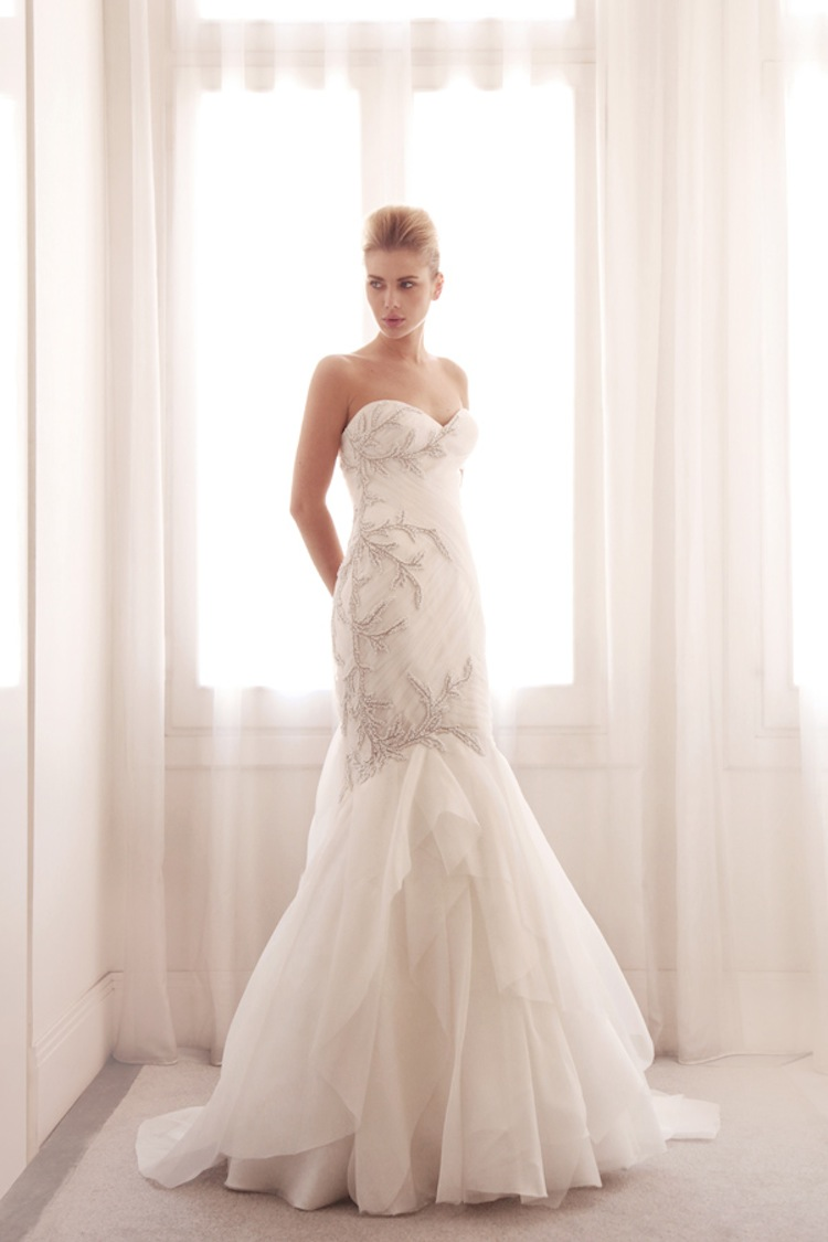 Embroidered Mermaid Wedding Gown By Gemy Bridal