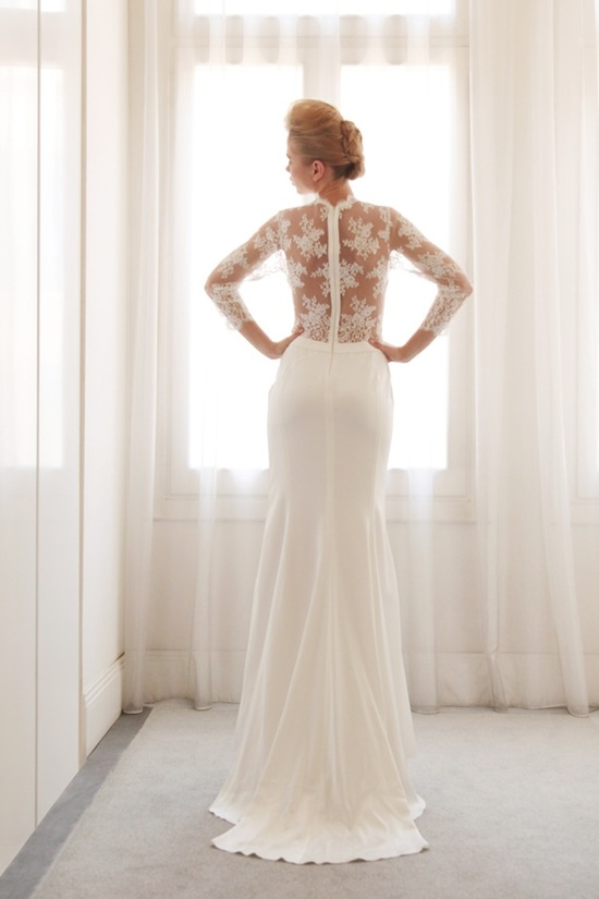 photo of Illusion wedding gown by Gemy Bridal