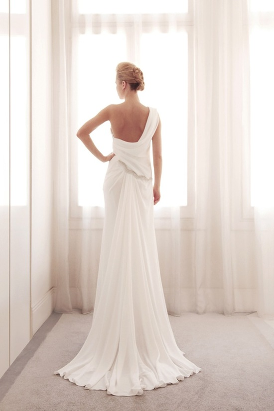 photo of One shoulder wedding gown by Gemy Bridal
