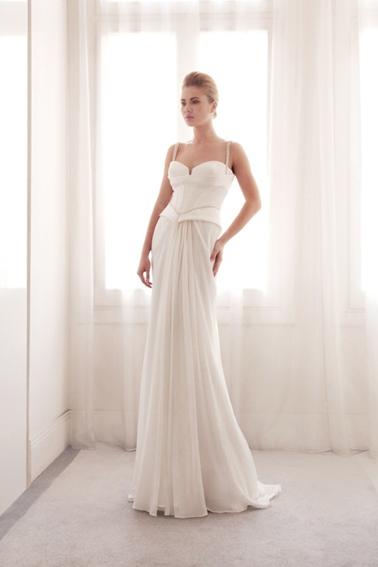 photo of Peplum wedding gown by Gemy Bridal