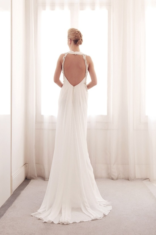 photo of Scoop neck wedding gown by Gemy Bridal