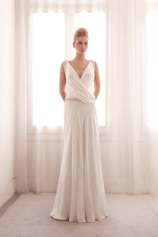 Sheath wedding gown by Gemy Bridal