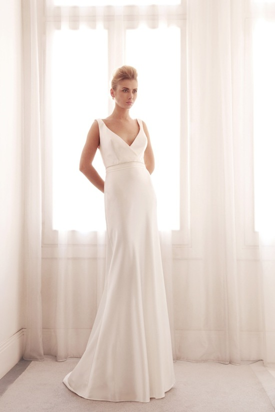 photo of Sophisticated wedding gown by Gemy Bridal