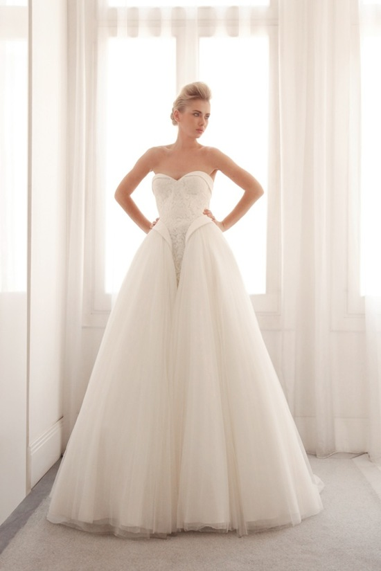 Tulle ball gown wedding dress by Gemy Bridal