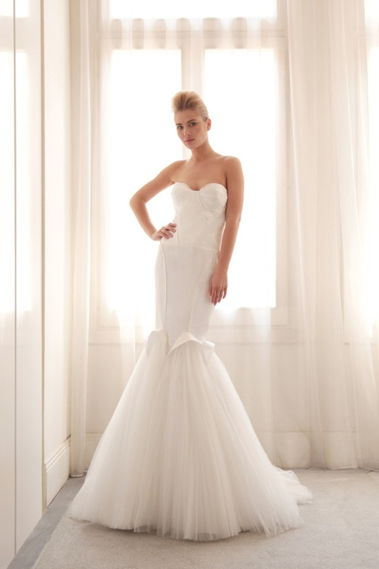photo of Tulle mermaid wedding gown by Gemy Bridal