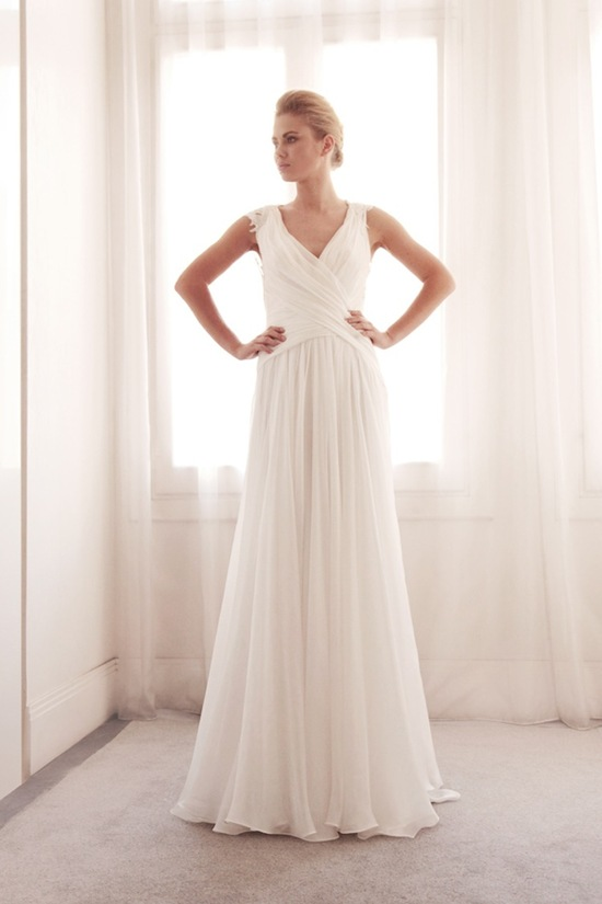 photo of Wrap wedding gown by Gemy Bridal