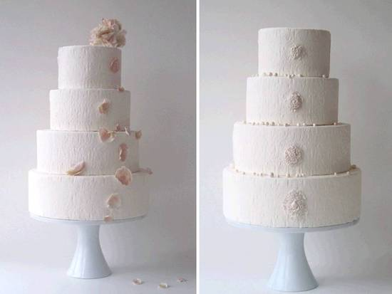 White and pink Parisian-inspired wedding cake