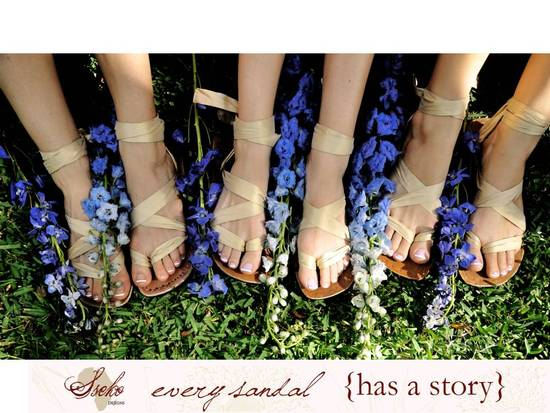 Win gorgeous custom wedding or honeymoon sandals