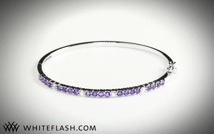 Whiteflash-diamond-amythest-bangle-bracelet.full