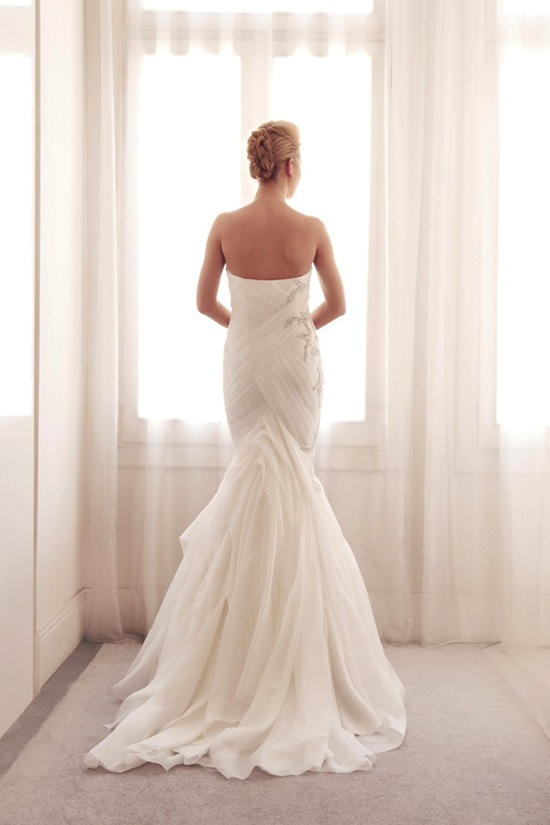 photo of Embroidered mermaid wedding gown by Gemy Bridal