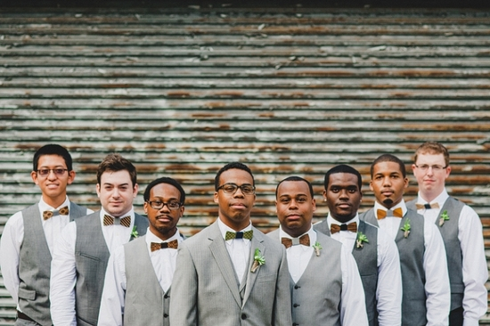 A Modern and Industrial Wedding with Two Guys Bow Ties