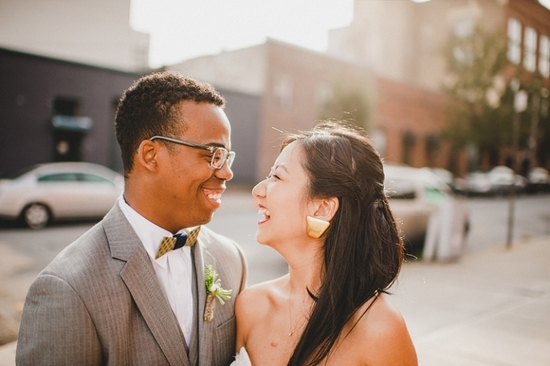 Modern, Industrial Wedding with Two Guys Bow Ties