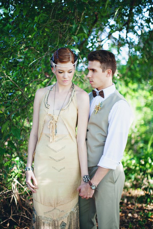 Gatsby Style Wedding with Two Guys Bow Ties