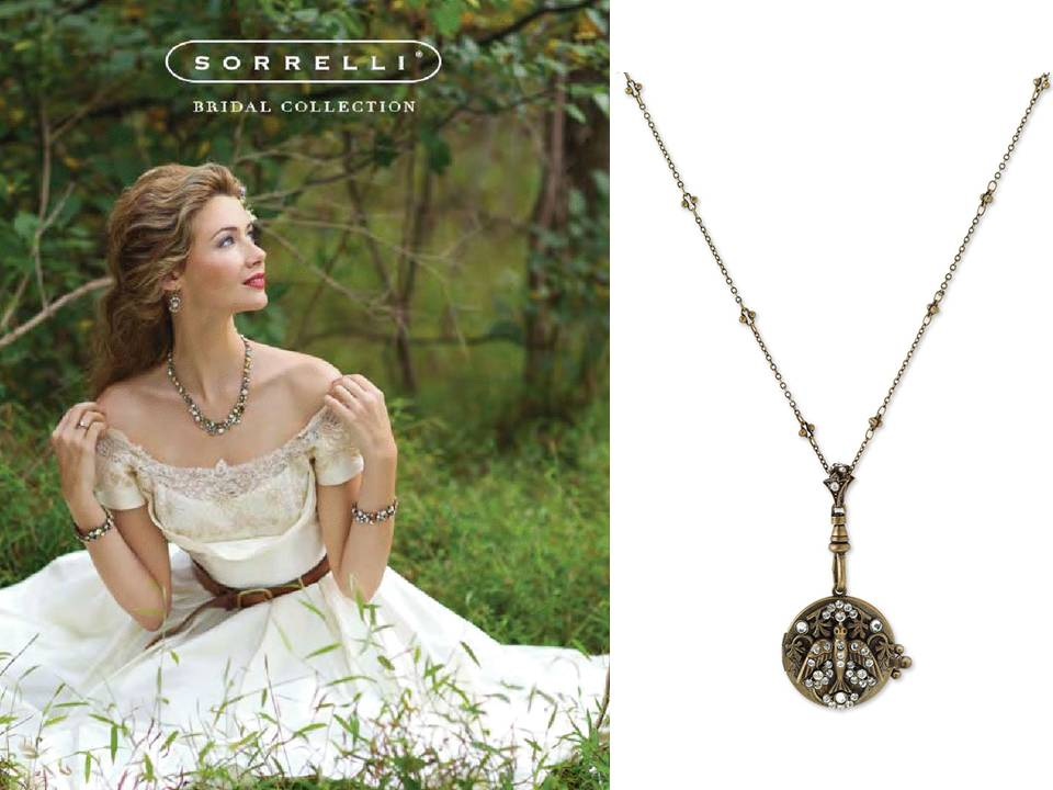 Wedding Dresses With Jewelry : Ivory lace wedding dress and antique bridal necklace onewed