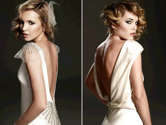 Open back vintage-inspired 2011 wedding dresses