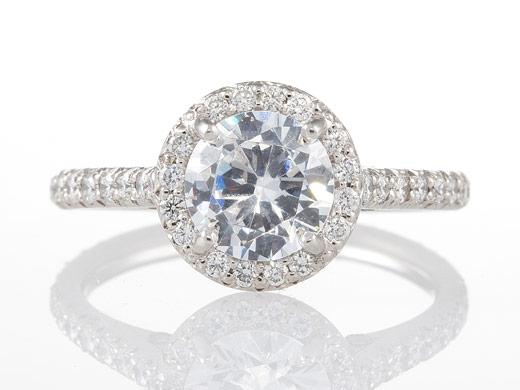 Round Diamond Wedding Ring Katinabagscom