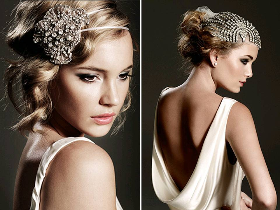 Chic vintage-inspired bridal accessories and wedding headband