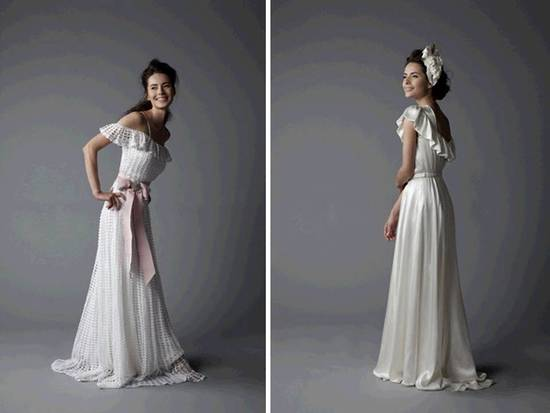 Stunning ivory 2011 wedding dresses with statement halter neckline