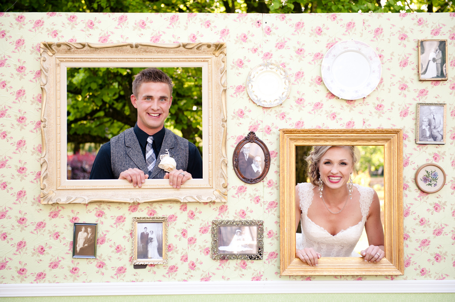 Photo booth in picture frames