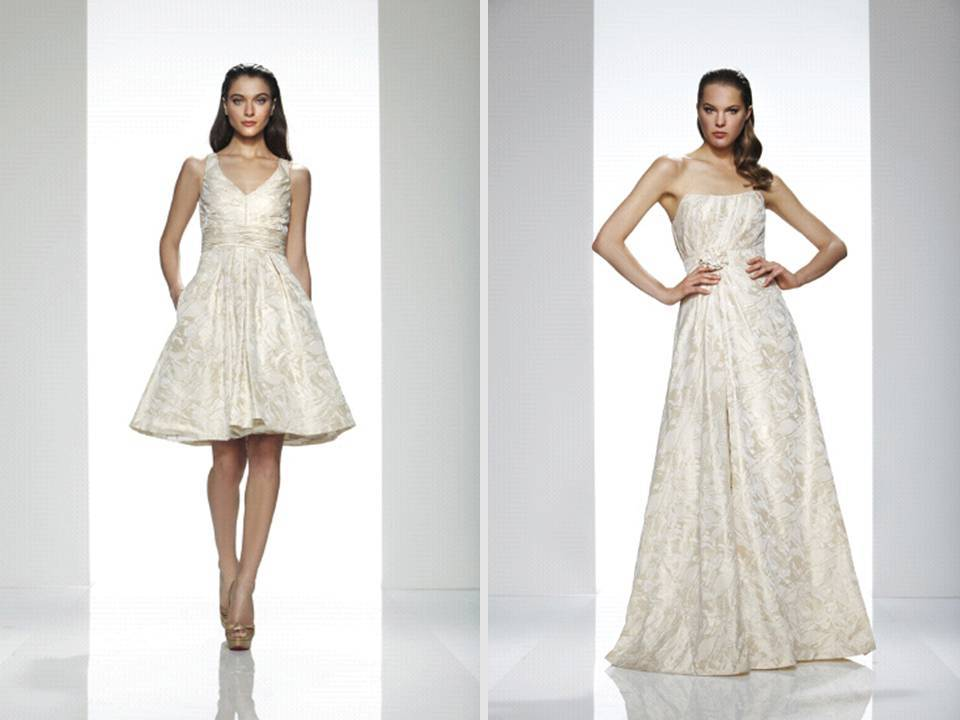 Champagne-wedding-dresses-v-neck-above-the-knee-reception-dress-strapless-a-line-gown.full