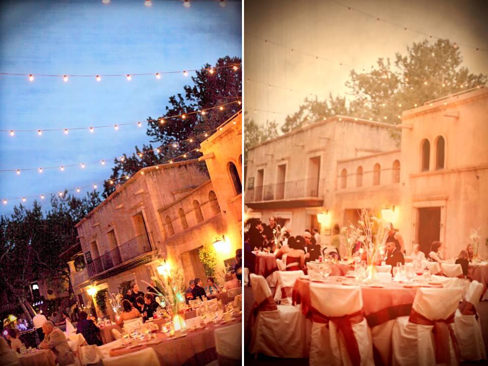 Outdoor sedona az wedding reception venue during dusk for Affordable wedding venues in az