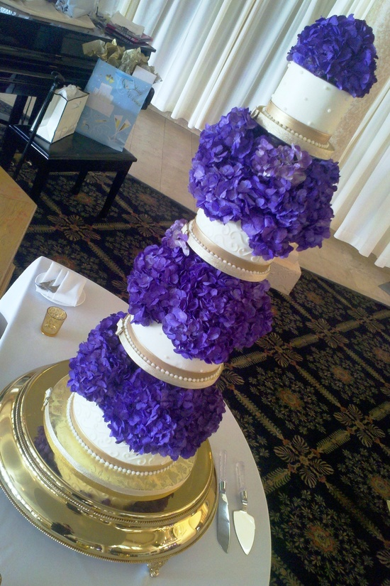 White, gold, purple