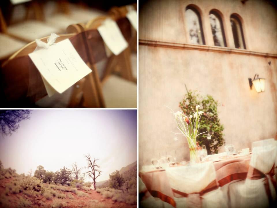 Outdoor-sedona-arizona-wedding-ceremony-chairs-escort-cards-wedding-flower-centerpiece.full