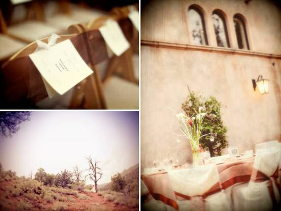 Sedona, AZ real wedding with chocolate brown, ivory and orange wedding color palette