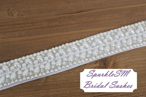 Bridal Sash, Wedding Sash, Bridal Belt, Crystal Sash, Rhinestone Sash, Jeweled Belt, Bridal Belt, Wedding Gown Belt Pearl Sash - Juliana