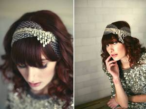 photo of Bridal Veils and Hair Accessories Inspired by Eras Past: Lo Boheme