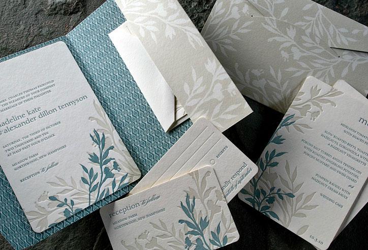 Wedding Invitations Eco Friendly: Nature-inspired Eco-friendly Letterpress Wedding