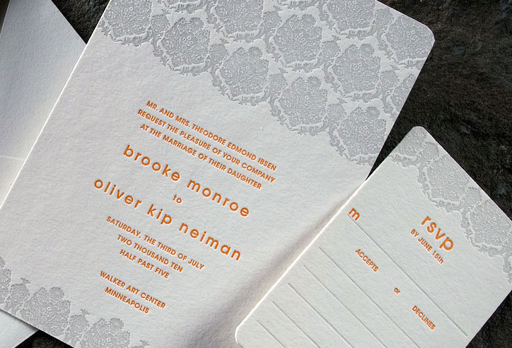 Sustainable-modern-wedding-invitations-lace-pattern-grey-orange-eco-friendly-2.full