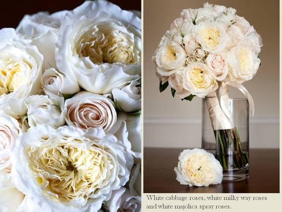 Classic And Elegant Ivory Blush Pink Bridal Bouquet