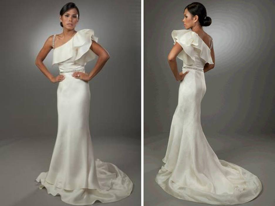 One Shoulder Mermaid Wedding Dresses Not a fan of this style of