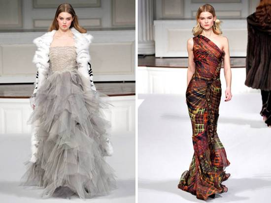 Stunning Fall 2011 Oscar de la Renta dresses and gowns