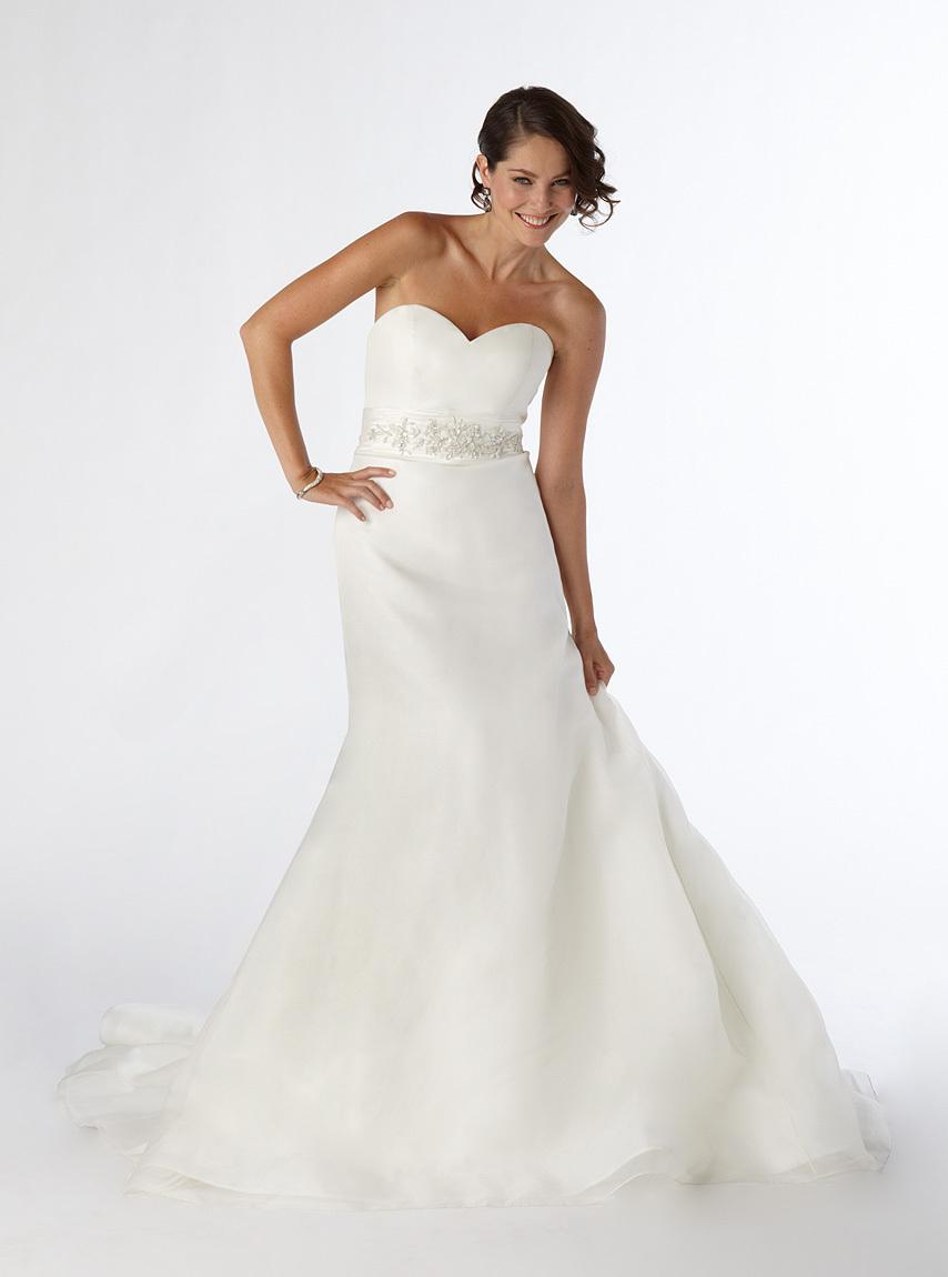 Sweetheart Neckline White Dress