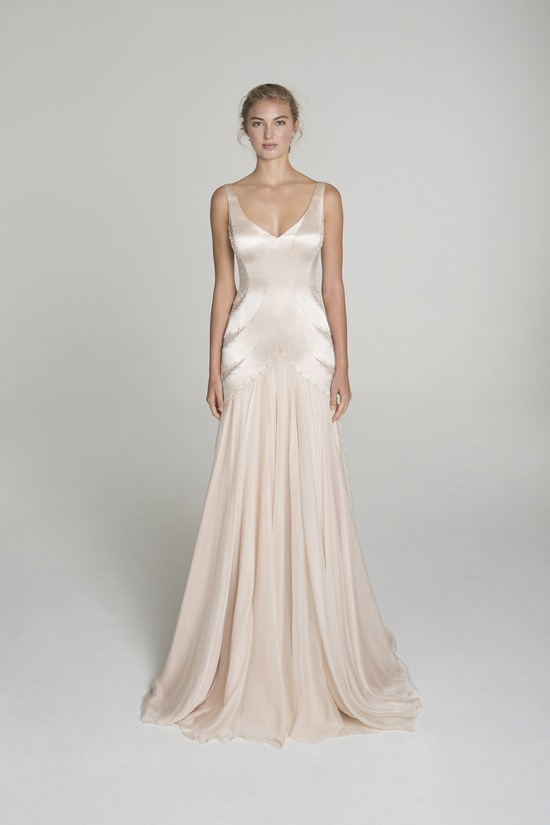 Blush wedding dress from Alana Aoun