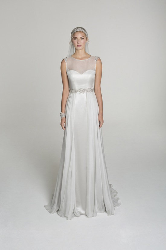 photo of Illusion neckline wedding dress from Alana Aoun