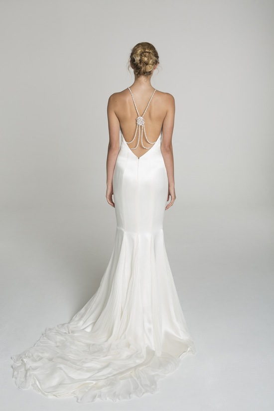 High neck wedding dress from Alana Aoun